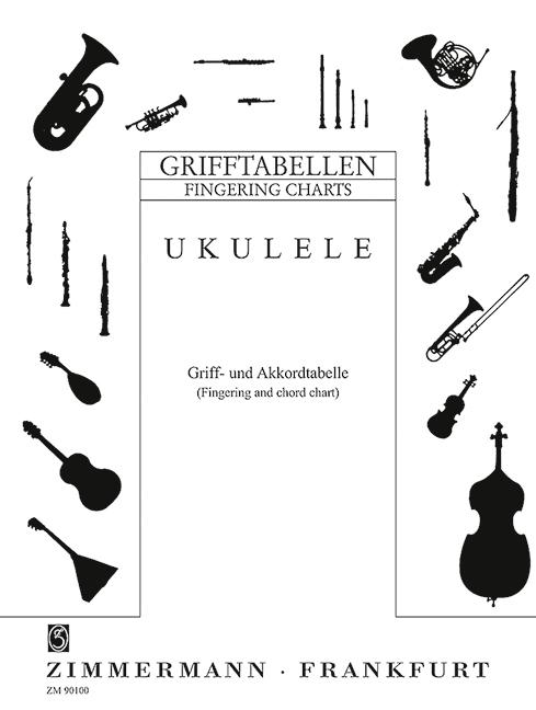 Fingering and chord chart Fingering Charts for Ukulele Ukulele 979001090100